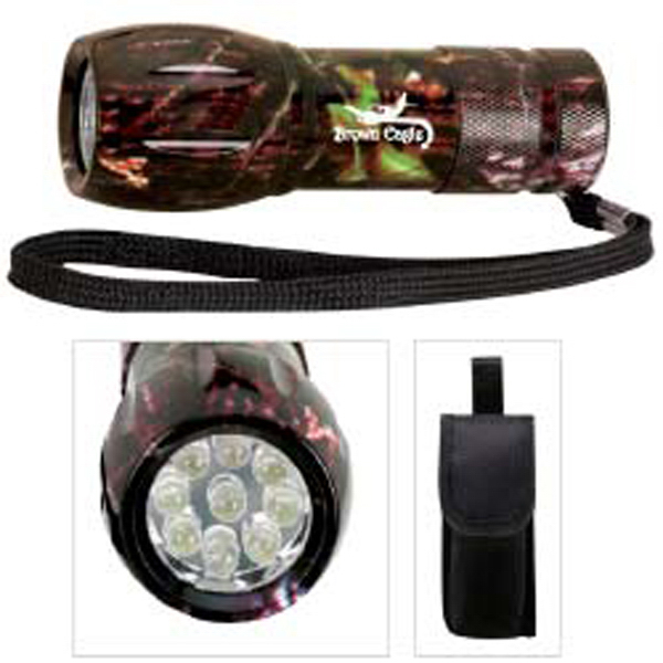 Imprinted Camouflage Mini LED Flashlight