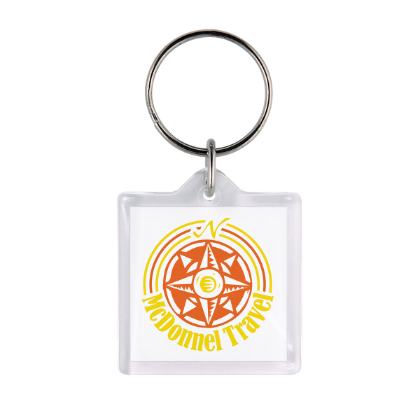 Customized Square Acrylic Keyring