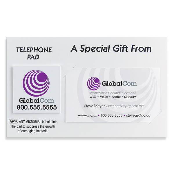 Promotional SafeAd (TM) Business card telephone pad