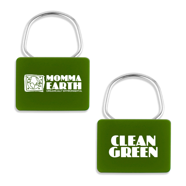 Promotional NatureAd (TM) Rectangle Corn Showring Key Tag