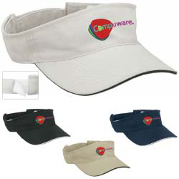 Personalized Visor with Sandwich Accent