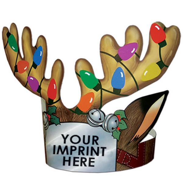 Imprinted Multi-Color Reindeer Antlers Headband