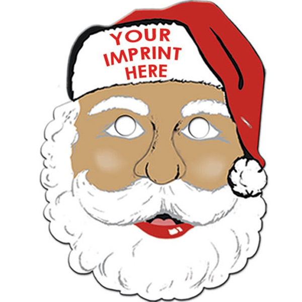 Imprinted Ethnic Santa Mask with Elastic Band
