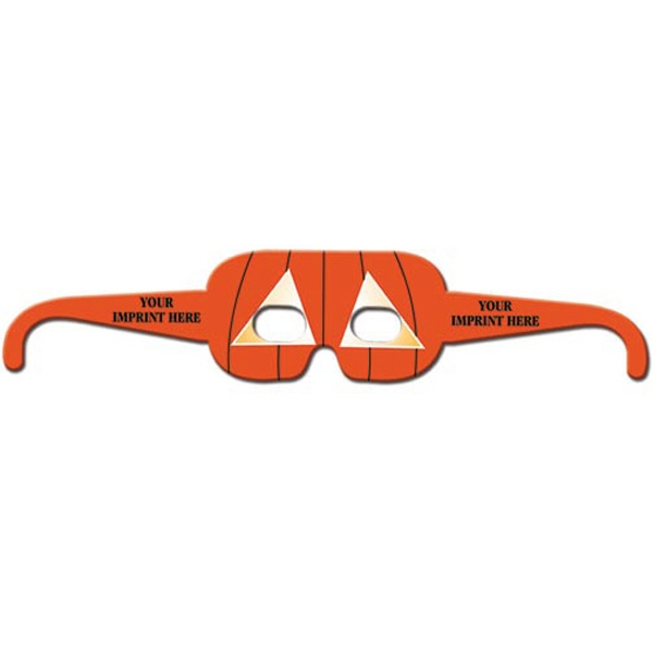 Imprinted Rectangle Pumpkin Glasses