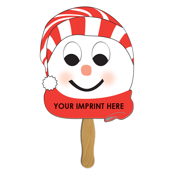 Imprinted Snowman on Stick - Stocking Cap