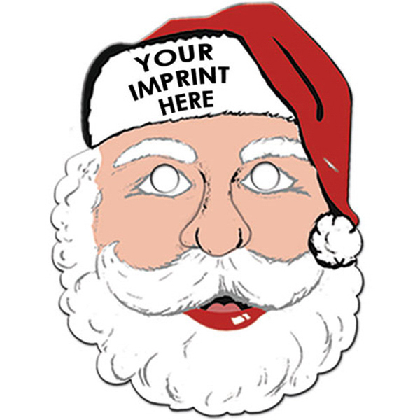 Imprinted Santa Mask with Elastic Band