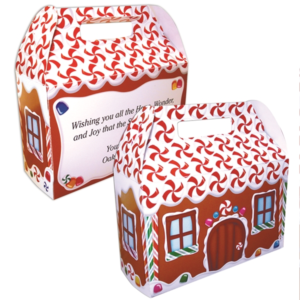 Printed Gingerbread House Donut Box