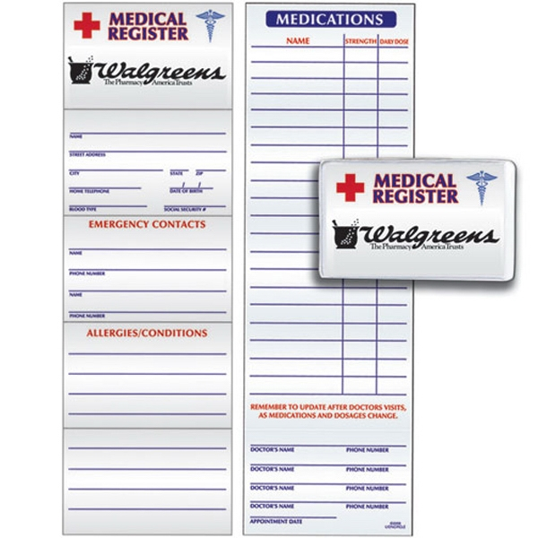 Promotional Medical Register Card