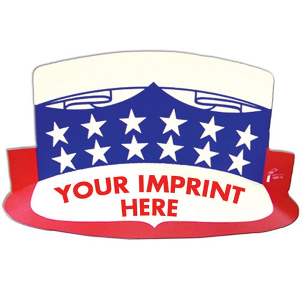 Imprinted USA Visor with Elastic Band