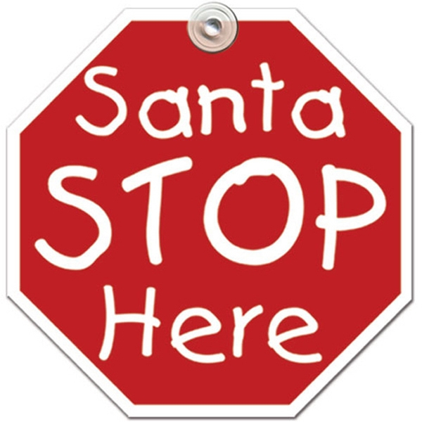 Customized Santa Stop Window Sign