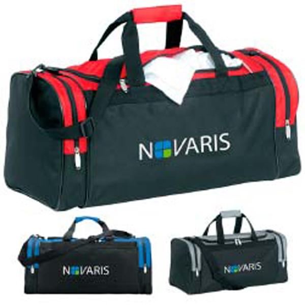 Personalized Color Accent Club Duffel