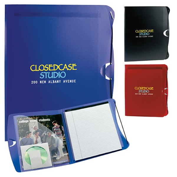 Imprinted PolyPro Padfolio with Business Card & CD Holder