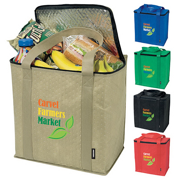 Personalized KOOZIE® Zippered Insulated Grocery Tote