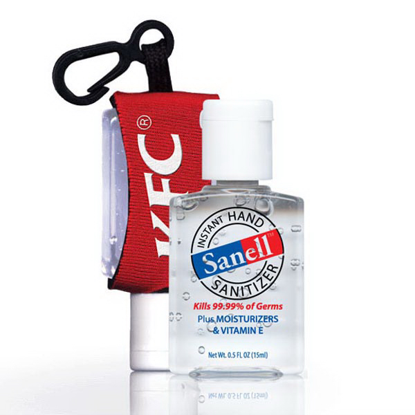 Promotional 0.5 oz hand sanitizer with custom leash