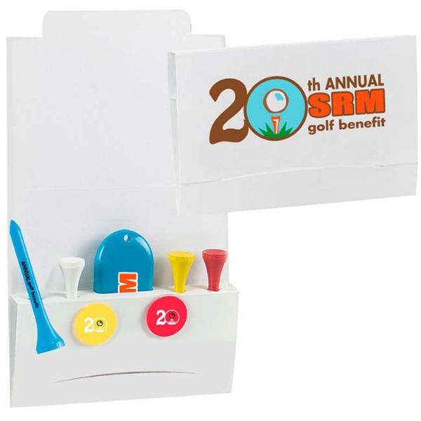 "Imprinted 4-2-1 Golf Tee Packet - 2-3/4"" Tee"