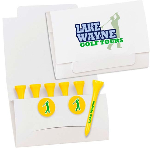 "Promotional 6-2 Golf Tee Packet - 2-3/4"" Tee"