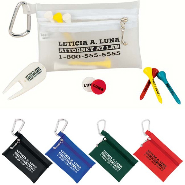 "Promotional Champion Golf Zipper Pack - 2-3/4"" Tee"