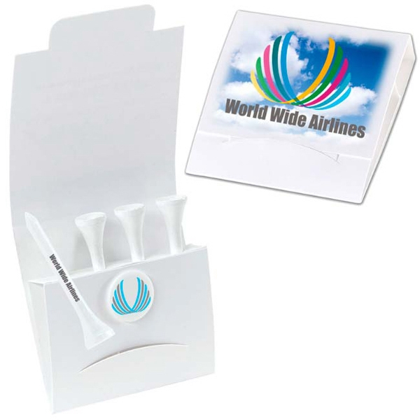 "Promotional 4-1 Golf Tee Packet - 3-1/4"" Tee"