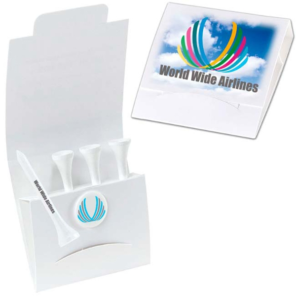 "Printed 4-1 Golf Tee Packet - 2-1/8"" Tee"