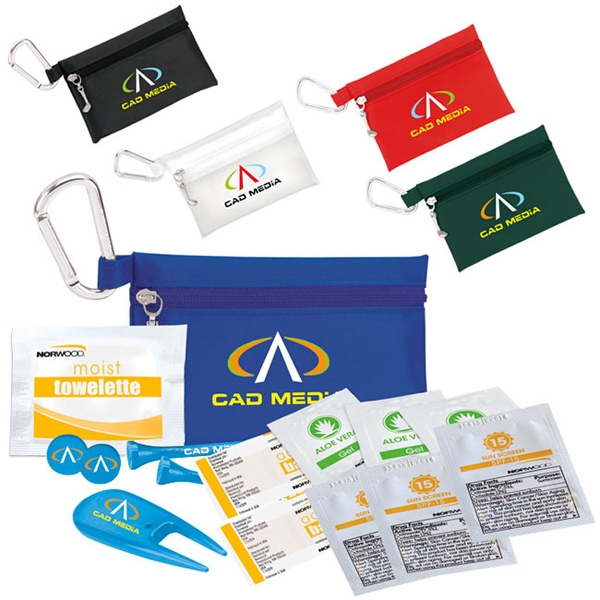 "Personalized Golfer's Sun Protection Kit - 2-1/8"" Tee"