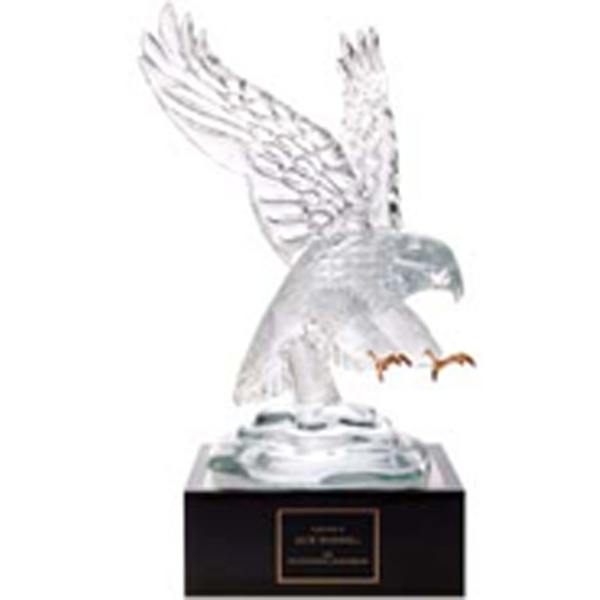 "Customized Eagle Award with 4"" Lighted Pedestal"