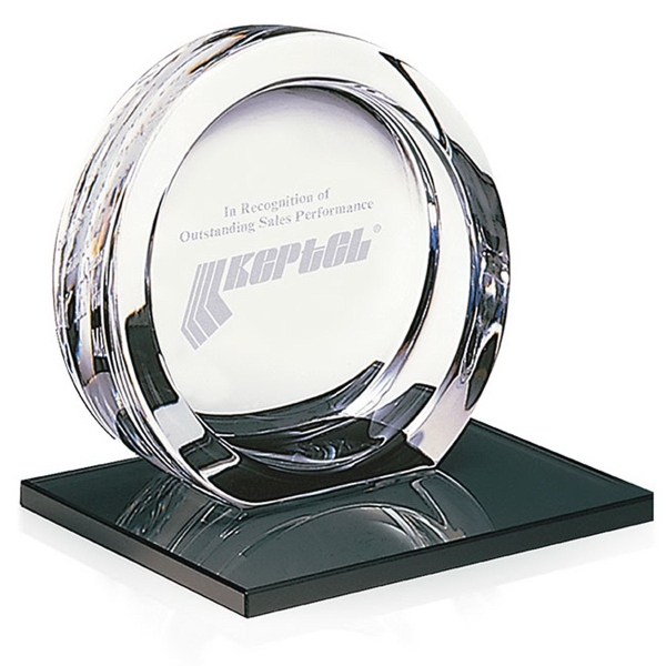 Promotional High Tech Award on Black Glass Base - Large