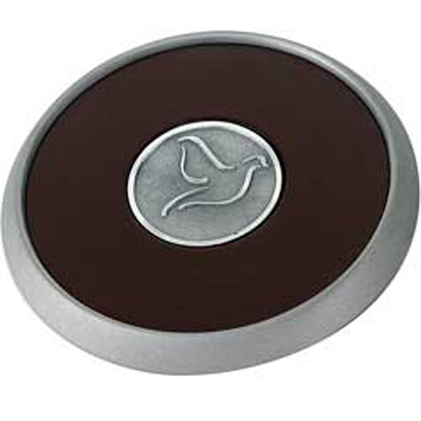 Custom Round Brushed Zinc Coaster