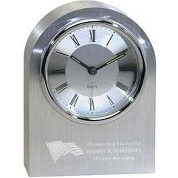Printed Silver Arch Clock