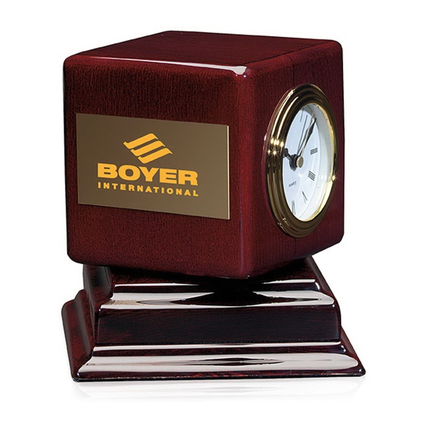 Personalized Rosewood Swivel Clock