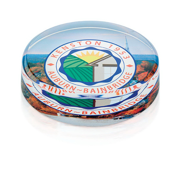 Personalized Round Paperweight