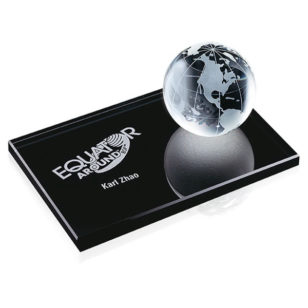 Imprinted Global Paperweight