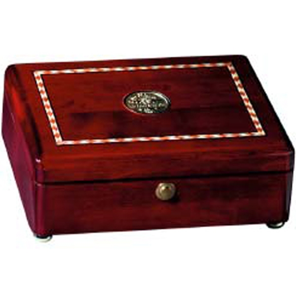 Promotional Rosewood Inlaid Rectangular Box