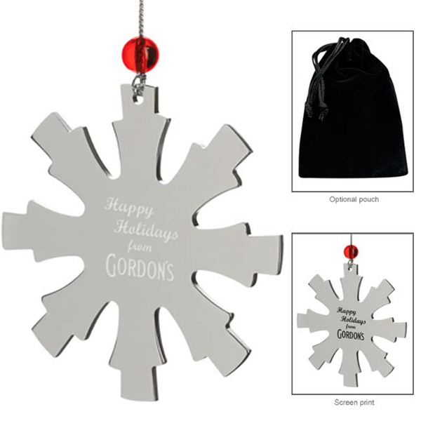 Promotional Silver Snowflake Ornament