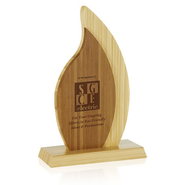 Printed Double Flame Bamboo Award