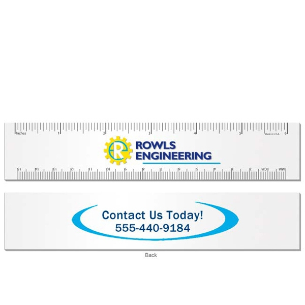 "Imprinted 6"" Ruler"