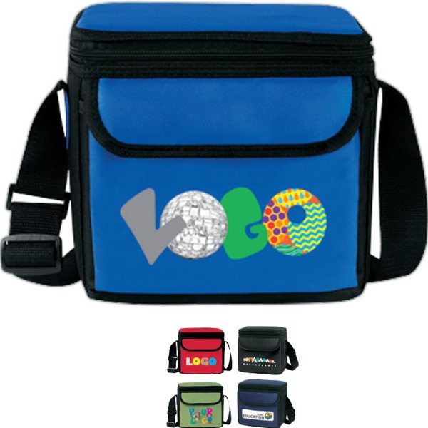 Personalized Deluxe Colorblock 6 Pack Cooler