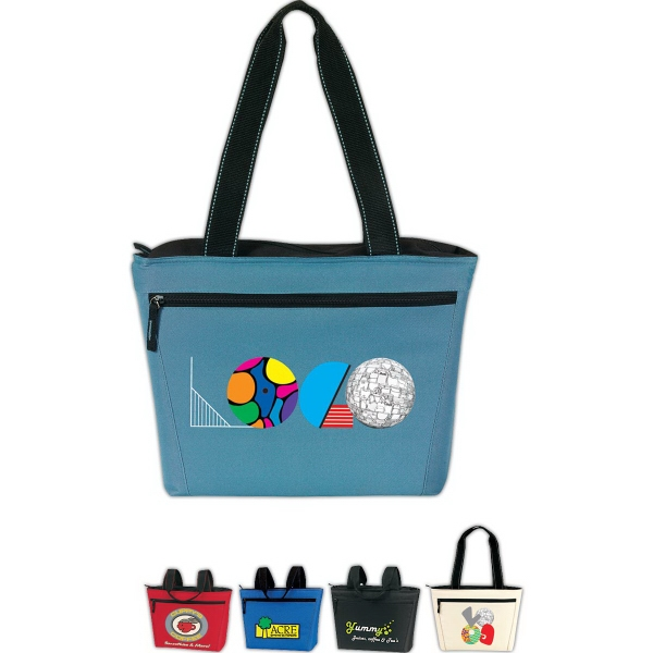 Personalized Two-Tone 12 Pack Cooler Tote