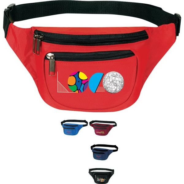 Promotional 3-Zipper Fanny Pack
