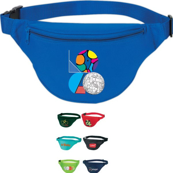 Imprinted 2-Zipper Fanny Pack
