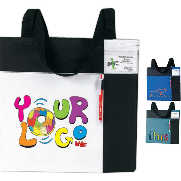 Personalized Color Block ID Convention Tote