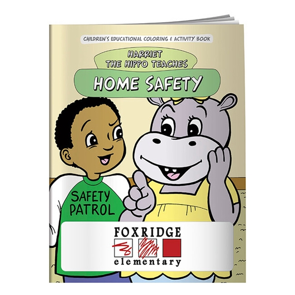 Imprinted Coloring Book: Home Safety