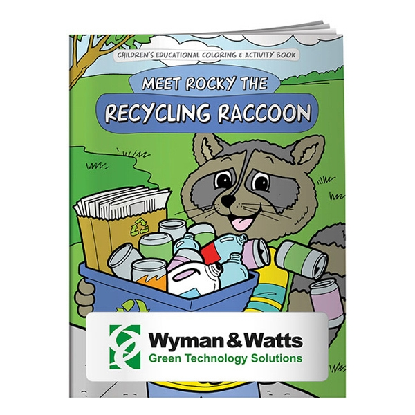 Printed Coloring Book: Meet Rocky the Recycling Raccoon