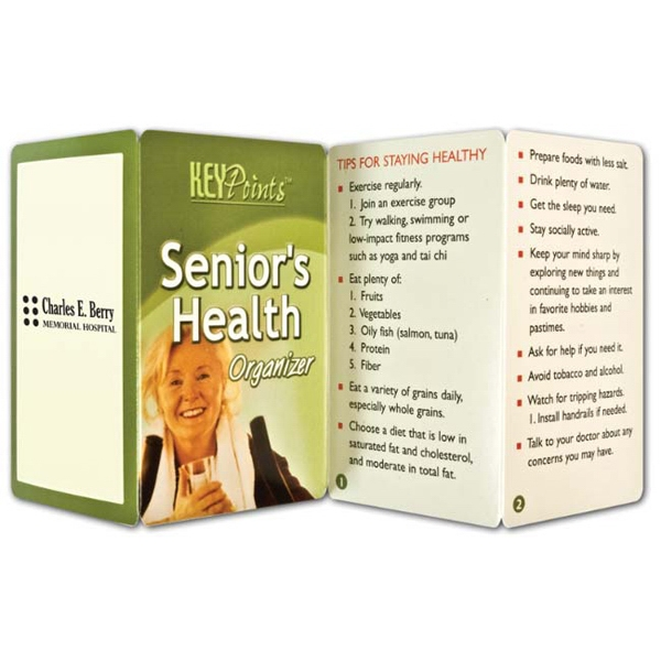 Printed Key Point: Senior's Health Organizer