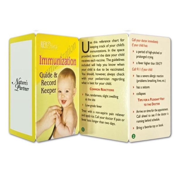 Printed Key Point: Immunization Guide & Record Keeper