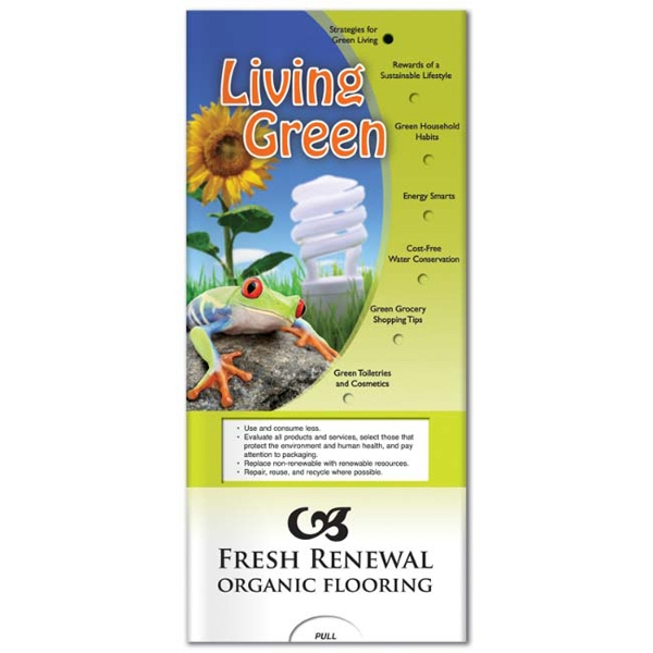 Promotional Pocket Slider: Living Green