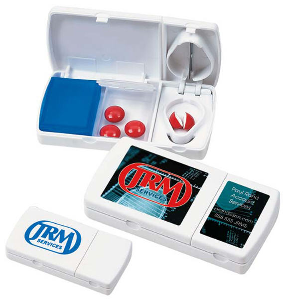 Personalized Travel Pill Box/Cutter
