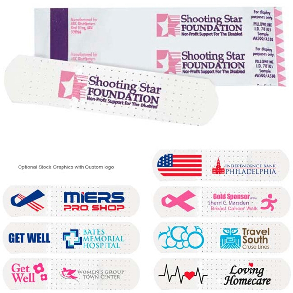 Customized Custom-Printed White Bandages
