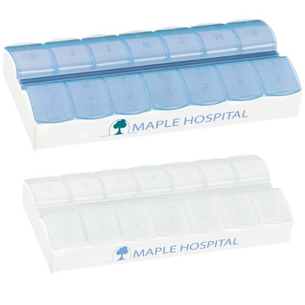 Personalized AM/PM Jumbo Easy Scoop Pill Box