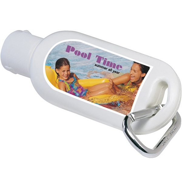Personalized SPF-30 Sport Sunscreen with Carabiner, 1.5 oz
