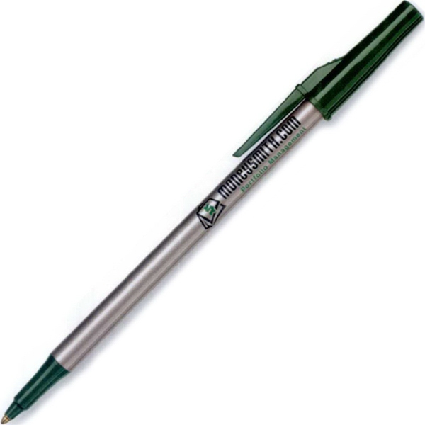 Promotional Write Bros. Silver Barrel Stick Pen